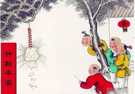 春节习俗,放爆竹,春节作文素材积累,马年春节