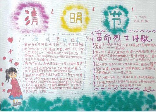 清明节手抄报 2014清明节小学生手抄报模板 10张