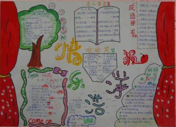 小学生暑假手抄报:语文学习报