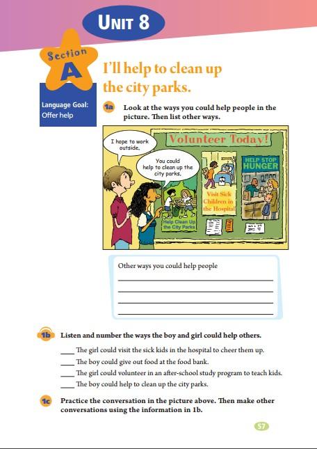 2014年人教版新目标七年级下册英语课本下载 第三部分图片
