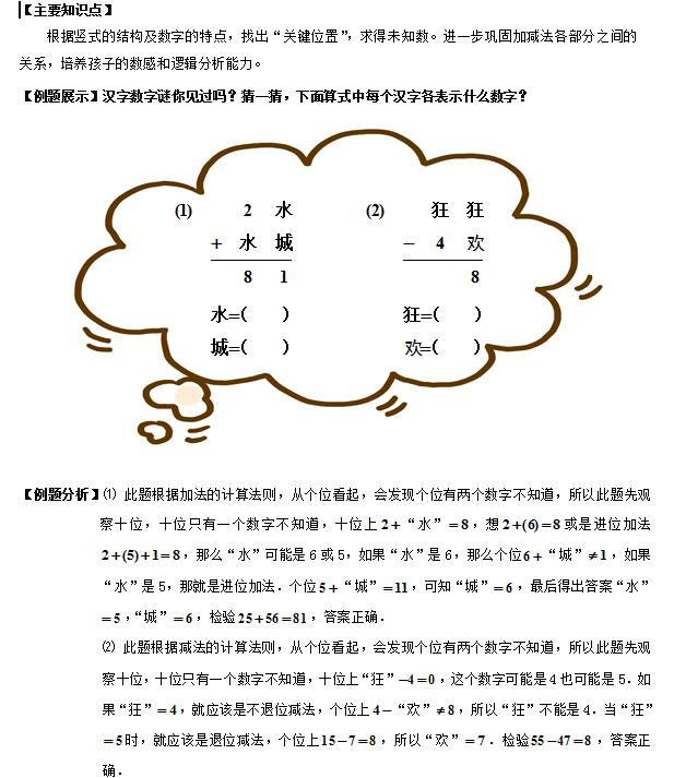 2016年一年级寒春数学课程大纲