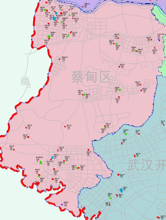 湖北武汉蔡甸区地图 图片合集