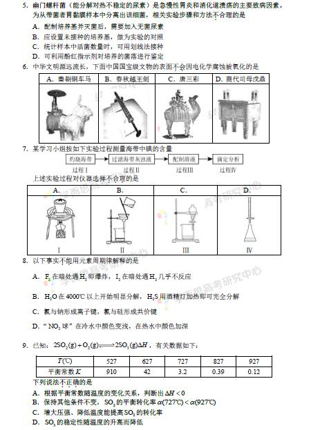 2016北京市朝阳区高三二模物理试题