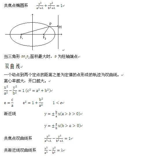 北京高一数学椭圆公式