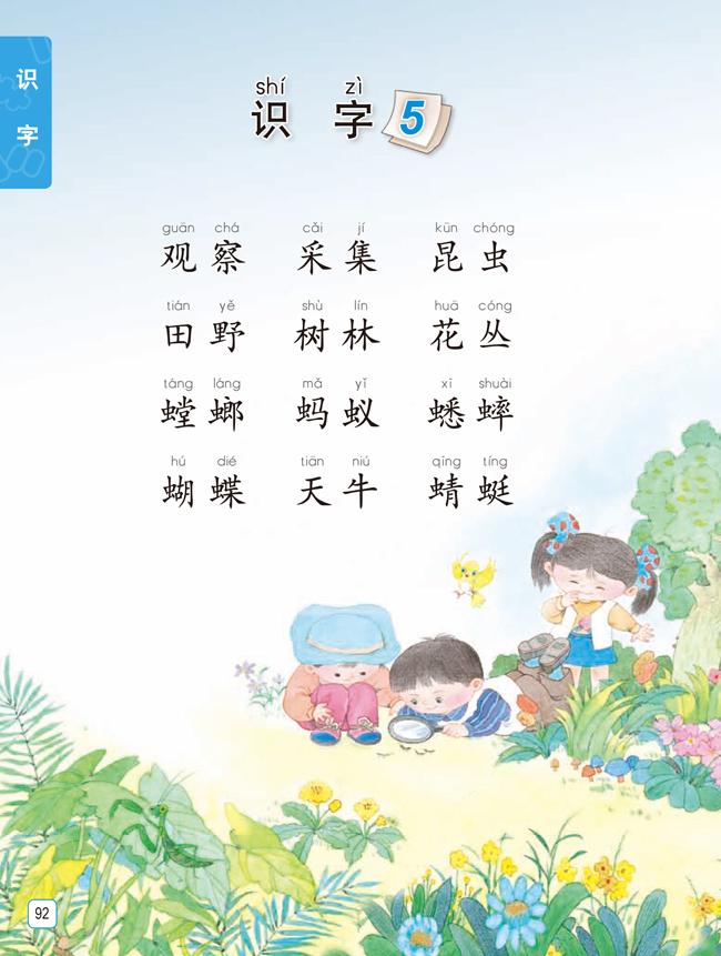 苏教版一年级语文,一年级语文,识字,小学语文