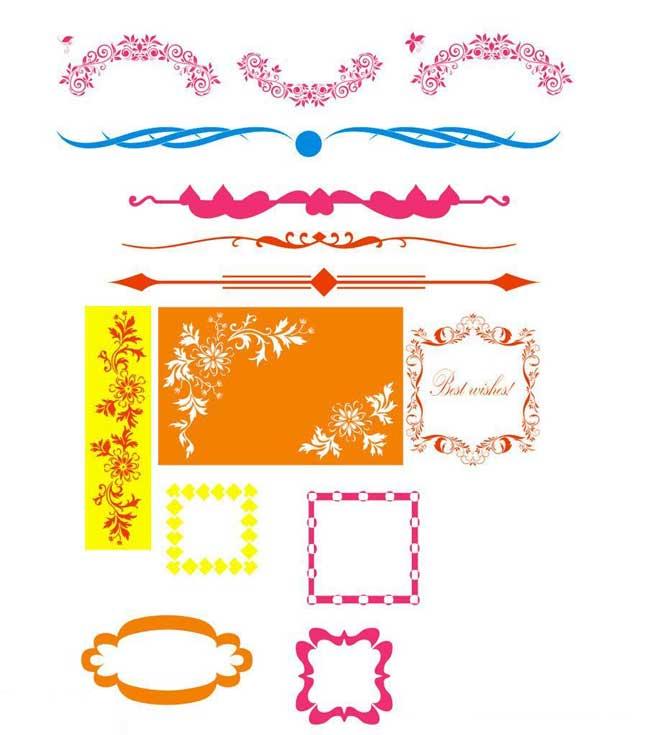 希望同学们根据这些手抄报边框素材设计出更漂亮的手