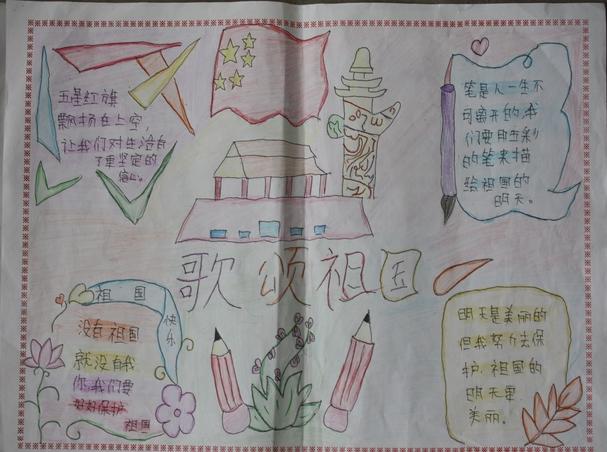 国庆手抄报图片大全6年级图片