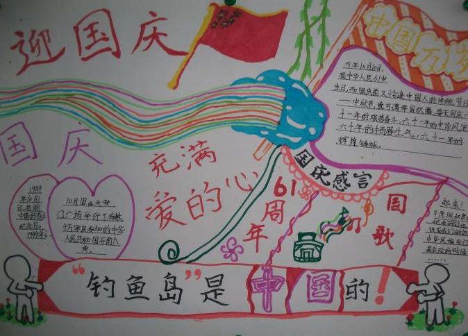 国庆手抄报简单又美丽漂亮字少图片