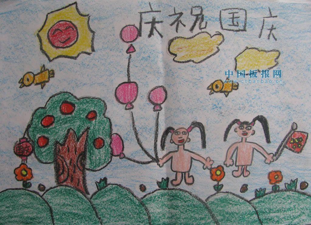 小学生国庆手抄报图片