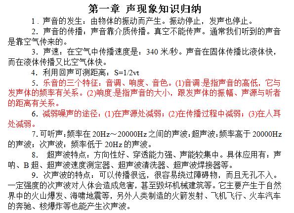 2017上海中考物理总复习知识点(精编版)(图例)