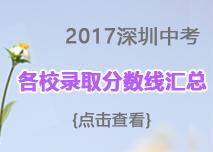 2017年深圳中考录取分数线汇总(各区)