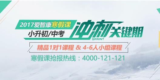 2017爱智康杭州寒假1对1课程