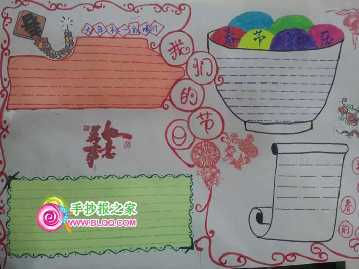 春节主题手抄报图片