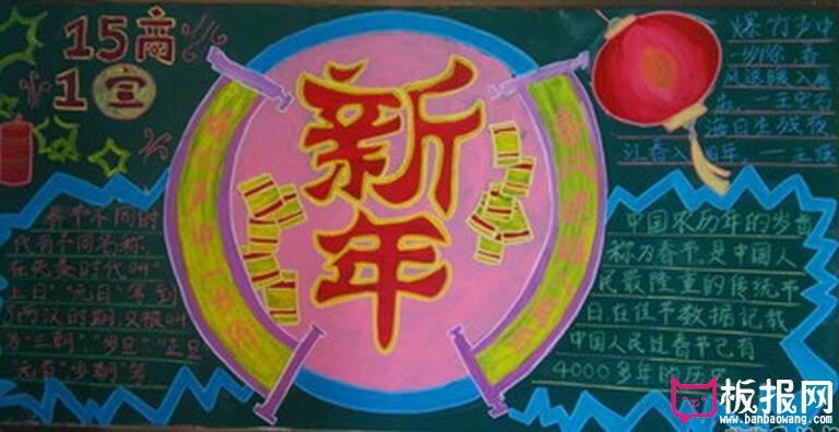 春节主题黑板报_智康1对1