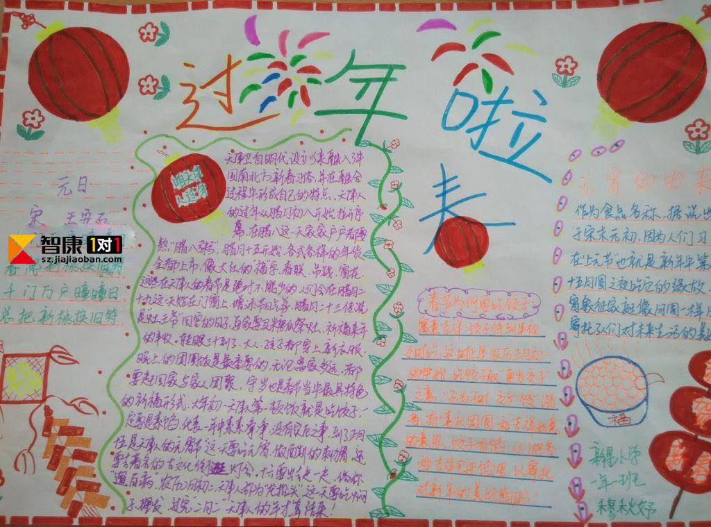 2017年关于春节的手抄报图片都有哪些?