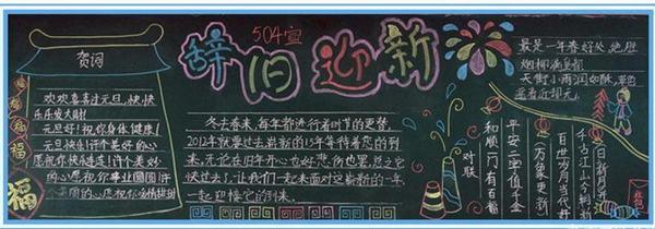 2017年春节黑板报:辞旧迎新