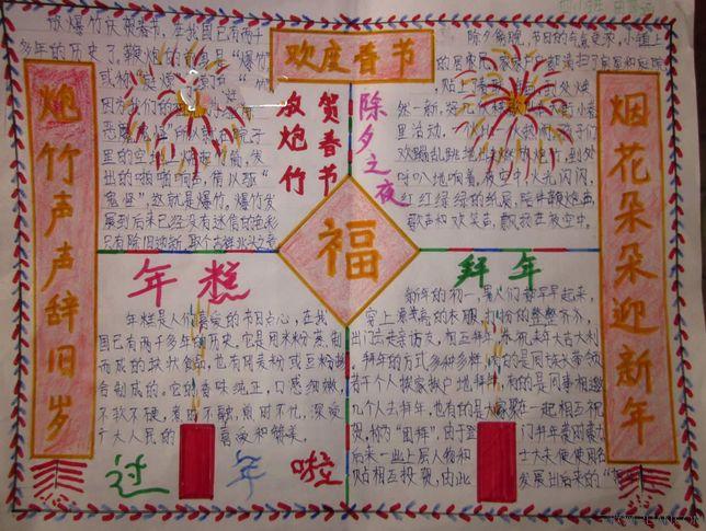 小学生春节手抄报内容