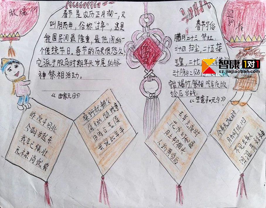 2017年关于春节的手抄报图片(汇总)
