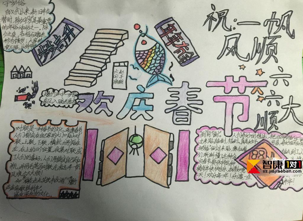 2017春节的手抄报-关于春节的手抄报/手抄报图片简单又漂亮/手抄报