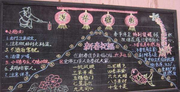 关于春节的黑板报内容