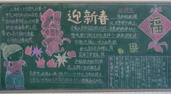 杭州初中春节黑板报 二