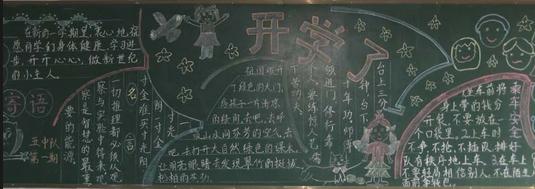 开学了,小学生怎么样根据开学寄语主题设计黑板报呢?