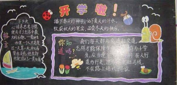 小学生新学期黑板报 ,新学期黑板报图片, 小学生黑板报