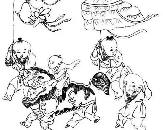 需要紧贴主题的图片素材,例如灯笼,狮子,汤圆等等的简笔画都可以.