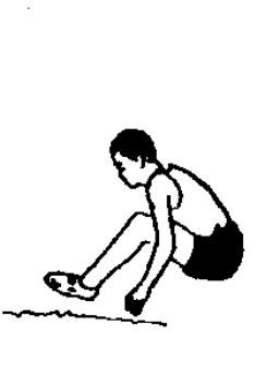 跳远卡通简笔画